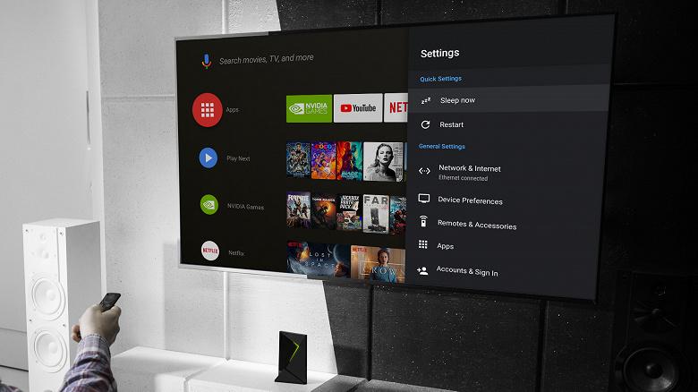Четырёхлетняя телевизионная приставка Nvidia Shield TV действительно получила Android Pie