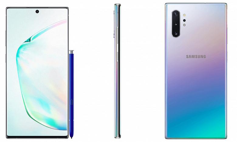 Samsung Galaxy Note10+ позирует на официальных рендерах