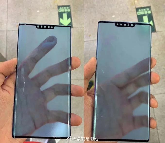 Живые фото лицевых панелей Huawei Mate 30 и Mate 30 Pro