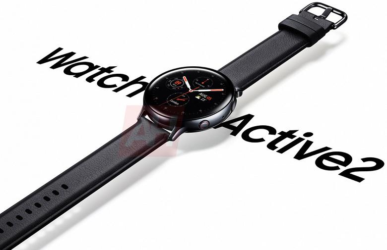 Утечка дня: официальное изображение умных часов Samsung Galaxy Watch Active 2