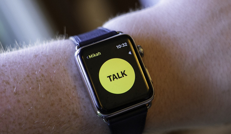 Apple временно отключила всем владельцам умных часов Watch функцию Walkie-Talkie