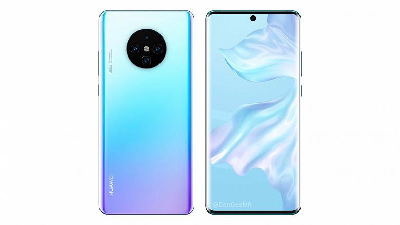 Huawei Mate 30 Pro похож на Samsung Galaxy Note10 на новом рендере