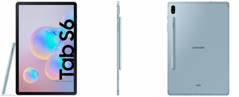 Официальные изображения планшета Samsung Galaxy Tab S6 в высоком разрешении