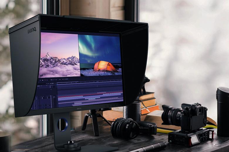Монитор BenQ SW270C охватывает 99% цветового пространства Adobe RGB и поддерживает HDR