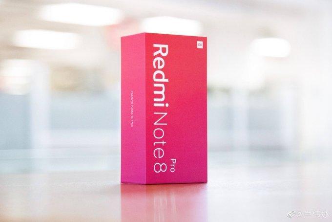 Названа цена Redmi Note 8 Pro. Фото упаковки
