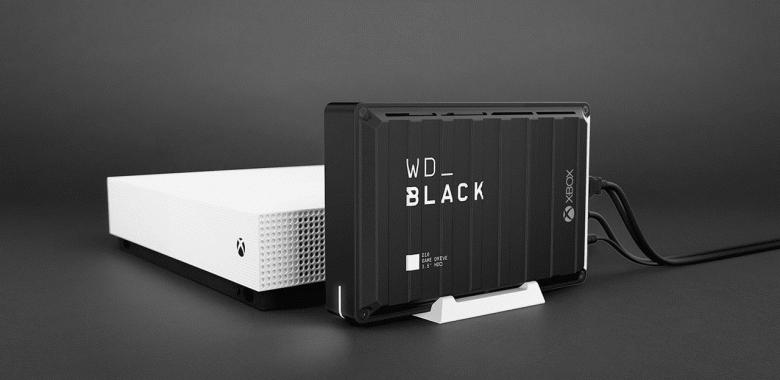 Внешний накопитель WD_Black D10 Game Drive for Xbox One имеет объём 12 ТБ