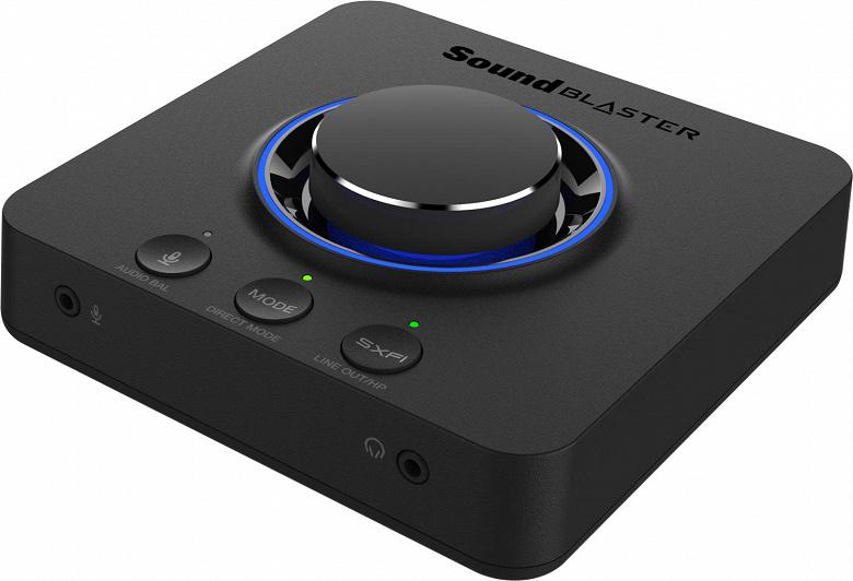Во внешней звуковой карте Sound Blaster X3 используется технология Super X-Fi