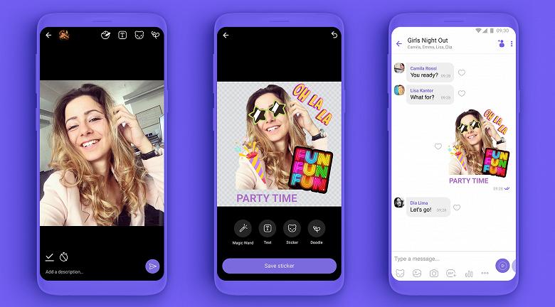 В Viber теперь тоже можно создавать собственные стикеры