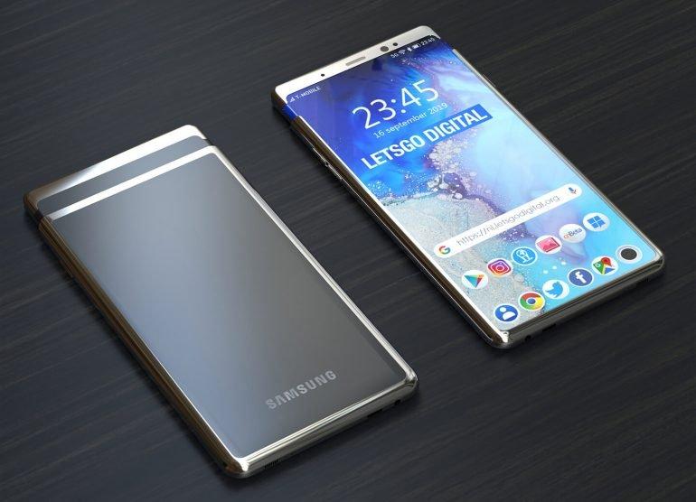Галерея дня: смартфон-слайдер Samsung Galaxy S11 Plus со сворачивающимся выдвижным экраном-водопадом