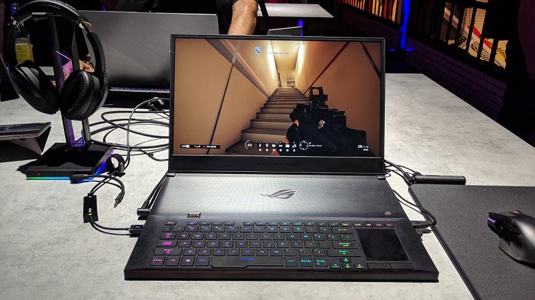300 Гц — новый стандарт топовых ноутбуков. Такой экран получил ноутбук Asus ROG Zephyrus S GX701