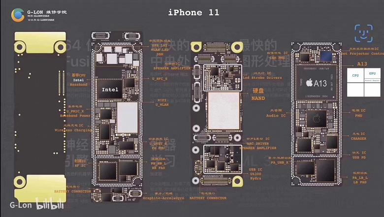 Компактная системная плата с двухсторонней компоновкой и baseband-процессор Intel: iPhone 11 показали изнутри