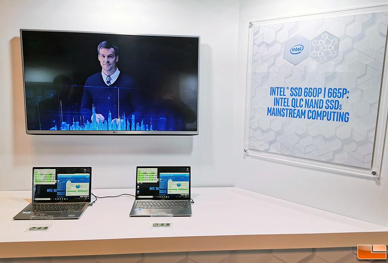 Накопитель Intel SSD 665p существенно быстрее, чем Intel SSD 660p, хотя построен на том же контроллере