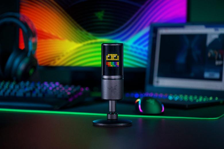 Razer выпускает первый в мире микрофон с дисплеем для смайликов