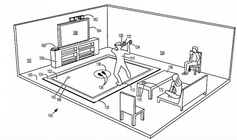 Microsoft патентует вибрирующий ковер для виртуальной реальности