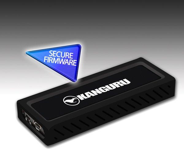 Внешний SSD Kanguru UltraLock рассчитан на подключение к порту USB-C и снабжен переключателем защиты от записи