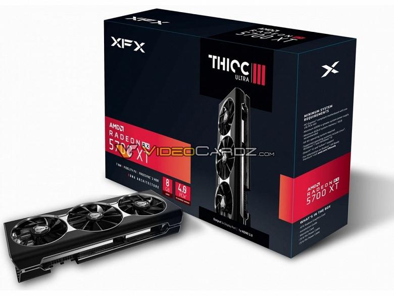 3D-карта XFX Radeon RX 5700 XT THICC III Ultra занимает в корпусе ПК три слота