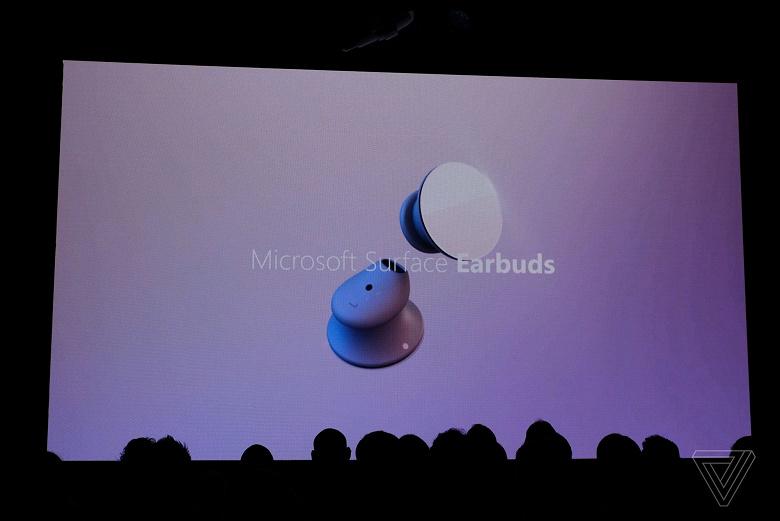 Самый функциональный конкурент AirPods 2: Microsoft представила беспроводные наушники Surface Earbuds, которыми можно перещелкивать слайды в PowerPoint