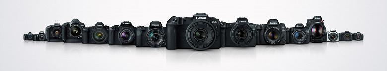 Камер Canon EOS со сменными объективами выпущено 100 миллионов штук