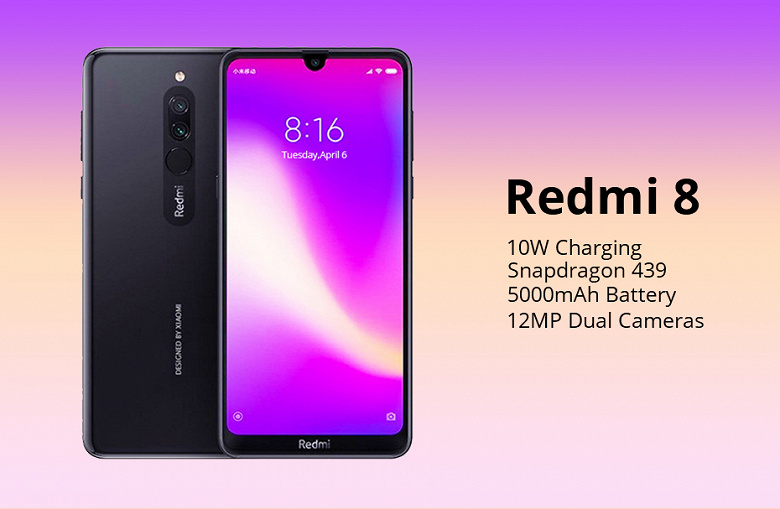В два раза дешевле ожидаемого. Сверхбюджетный смартфон Redmi 8 начали продавать за неделю до анонса