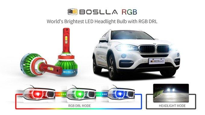 Средства на выпуск ламп Boslla RGB для автомобильных фар удалось собрать за несколько часов