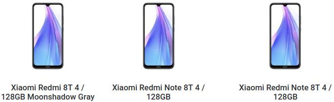 Redmi Note 8T с NFC можно будет купить дешевле Redmi Note 8, у которого NFC нет