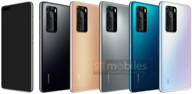 Вот так выглядят цветовые варианты Huawei P40 и P40 Pro