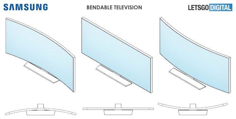 Новый телевизор Samsung можно изгибать внутрь и наружу