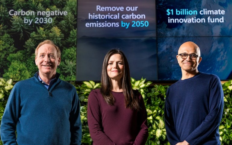 Microsoft хочет удалить свой углеродный след к 2050 году