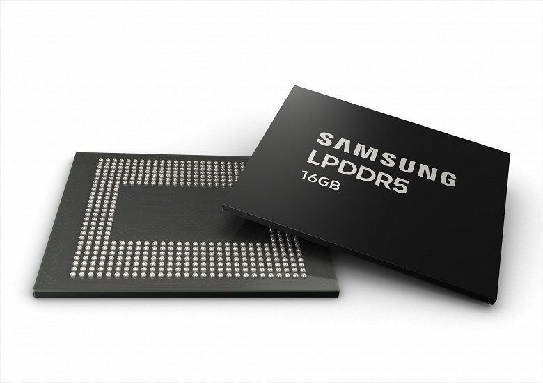 Samsung починає серійний випуск перших в галузі мікросхем пам'яті LPDDR5 DRAM об'ємом 16 ГБ