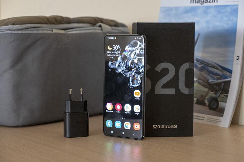 Вы вряд ли угадаете разницу в скорости зарядки Samsung Galaxy S20 Ultra при использовании ЗУ мощностью 25 и 45 Вт