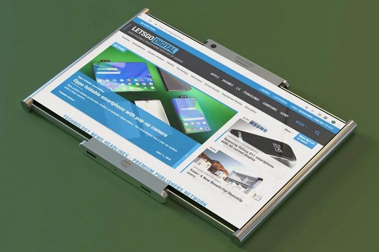 Samsung показала сворачивающийся смартфон вживую