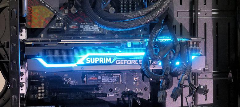 Флагманская видеокарта MSI GeForce RTX 3090 Suprim X на живых фото
