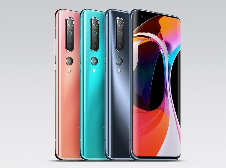 Xiaomi опустила цену флагманского смартфона Xiaomi Mi 10 ниже отметки 500 долларов на рынке Китая