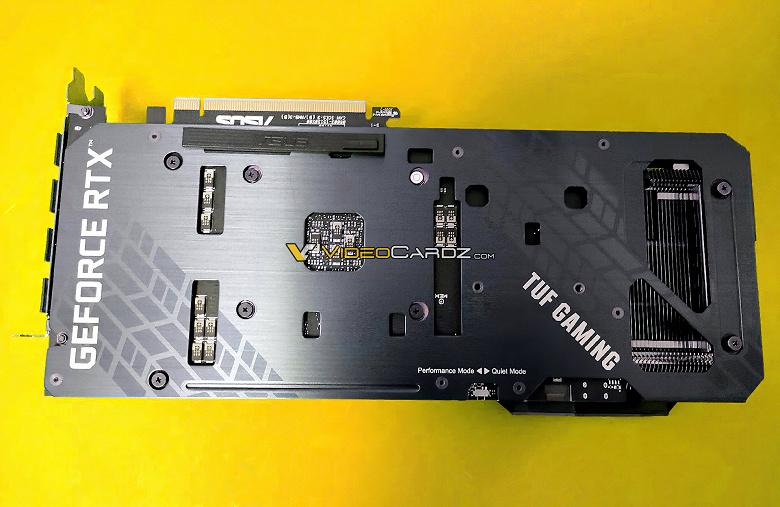 Появились изображения видеокарты Asus GeForce RTX 3060 Ti TUF Gaming OC