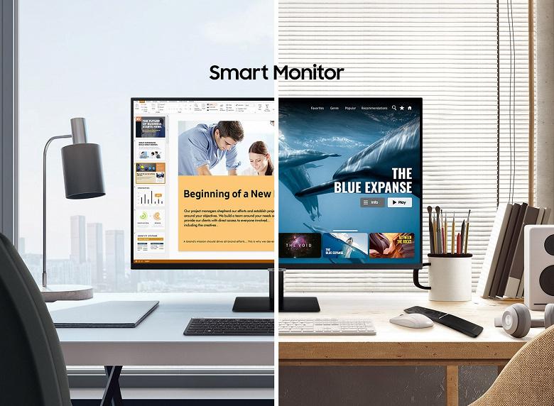 Умному монитору Samsung Smart Monitor не нужен ПК для полноценной работы