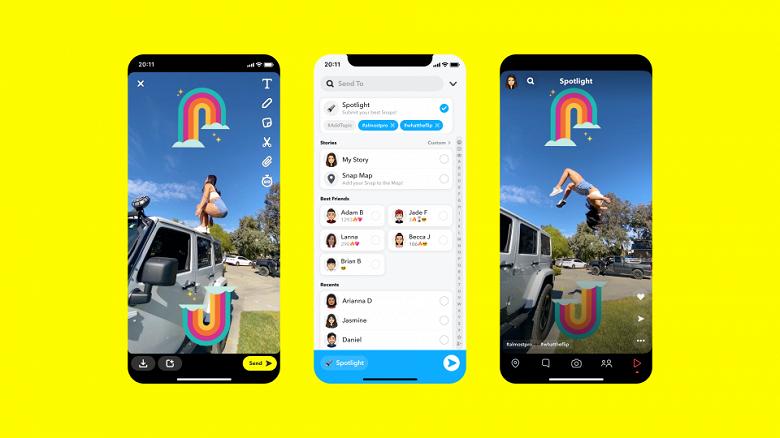 Более миллиона долларов ежедневно: Snapchat начинает платить лучшим авторам в своём клоне TikTok