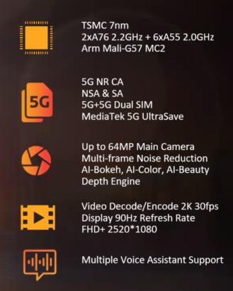 MediaTek представила свою первую 6-нанометровую платформу, а также SoC Dimensity 700 для недорогих смартфонов с поддержкой 5G