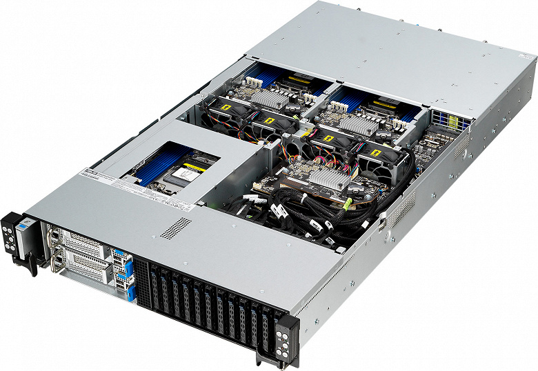 Asus RS620SA-E10-RS12 — первая в мире серверная платформа высокой плотности формата 2U6N