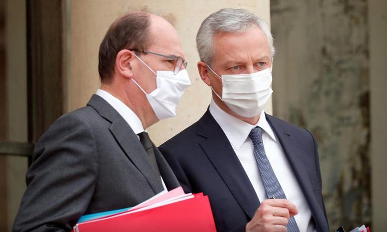 Премьер-министр Франции Жан Кастекс (Jean Castex) и министр экономики и финансов Бруно Ле Мэр (Bruno Le Maire)