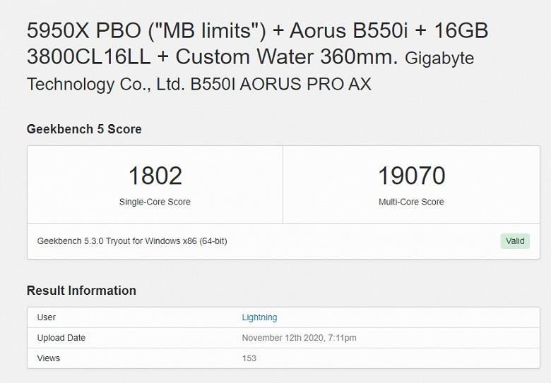 16-ядерный Ryzen 9 5950X оказался все-таки быстрее восьмиядерного процессора Apple M1. Но с разгоном и жидкостной системой охлаждения