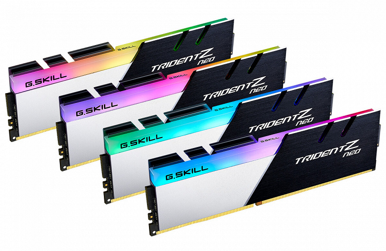 В серию G.Skill Trident Z Neo вошли модули памяти DDR4-4000 с задержками CL16