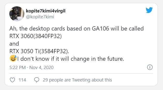 Очередные новинки Nvidia – GeForce RTX 3060 и RTX 3050 Ti. У них больше 3500 ядер CUDA