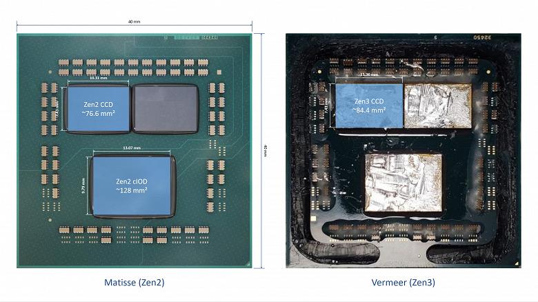 Что скрывается под крышками новейших процессоров Ryzen5000. Их кристаллы выросли