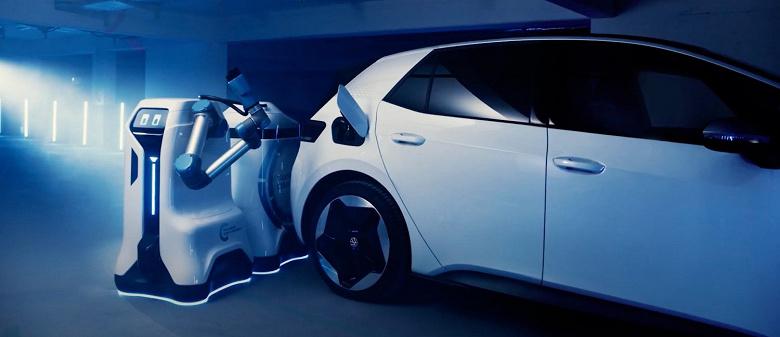 У VW готов прототип робота для зарядки электромобилей