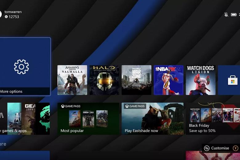 Microsoft выпустила первое обновление Xbox Series X
