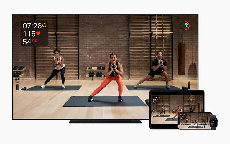 Сервис для домашнего фитнеса Apple Fitness+ начинает работу с понедельника