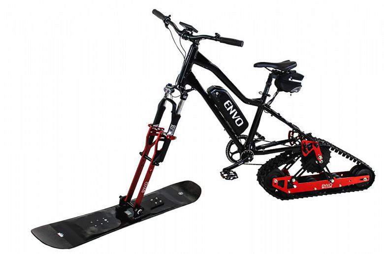 Как превратить велосипед в электрический снегоход?