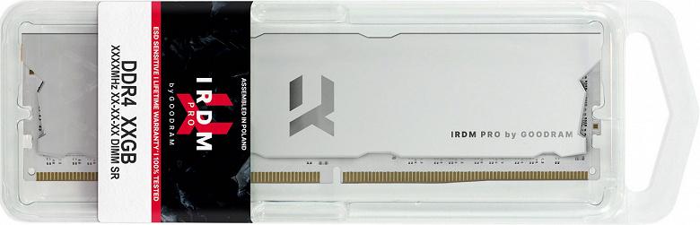 Модули памяти IRDM PRO DDR4-4000 окрашены в белый цвет