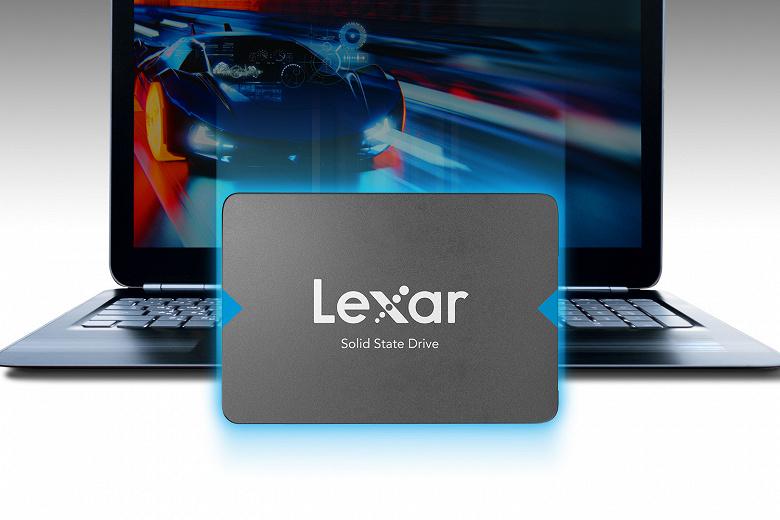 Твердотельный накопитель Lexar NQ100 оснащен интерфейсом SATA 6 Гбит/с