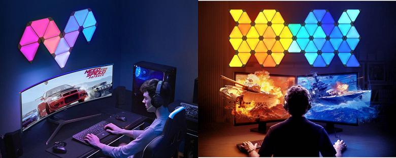 Необычный светильник Xiaomi подстраивается под музыку и игры